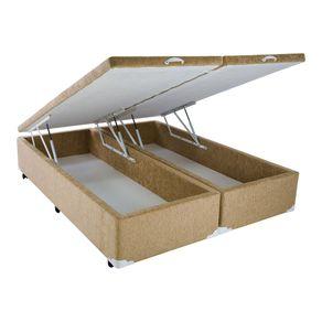 cama-box-king-size-com-bau-mega-colchoes-chenille-caramel-com-pistao-1